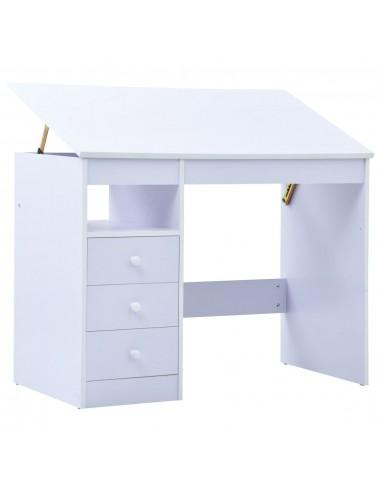 Vaikiškas piešimo stalas, baltos spalvos, pakreipiamas   Braižybos stalai   duodu.lt