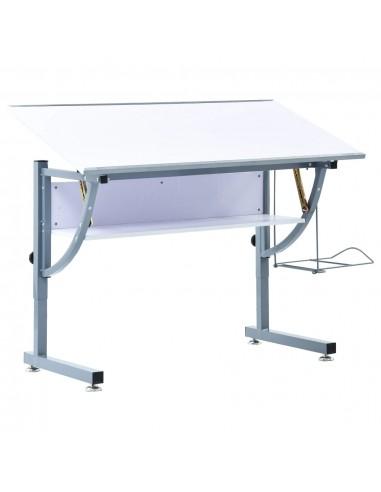 Braižymo stalas paaugliams, baltos spalvos, 110x60x87cm, MDF   Braižybos stalai   duodu.lt