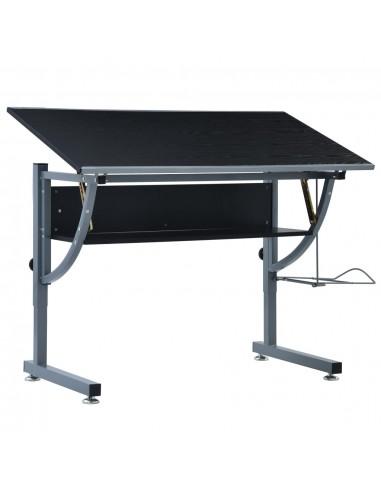 Braižymo stalas paaugliams, juodos spalvos, 110x60x87cm, MDF | Braižybos stalai | duodu.lt