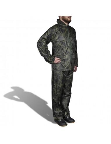 Kamufliažinis Vyriškas 2 Dalių Kostiumas nuo Lietaus su Gobtuvu, XL | Neperšlampami kostiumai | duodu.lt
