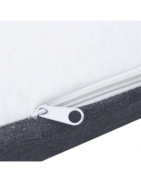 Chindi kilimėlis, vyšninis ir baltas, 200x290cm, medvilnė | Kilimėliai | duodu.lt