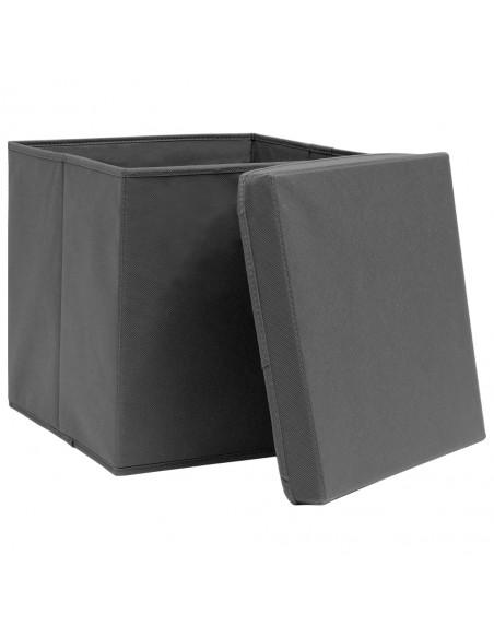 Stalo kilimėliai, 4vnt., antrac.+baltų dryžių, 30x45cm, chindi | Stalo kilimėlis | duodu.lt