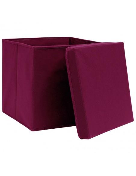 Stalo kilimėliai, 4vnt., vyšninės+baltos sp., 30x45cm, medvilnė   Stalo kilimėlis   duodu.lt