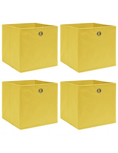Daiktadėžės, 4vnt., geltonos spalvos, 32x32x32cm, audinys | Daiktadėžės namams | duodu.lt