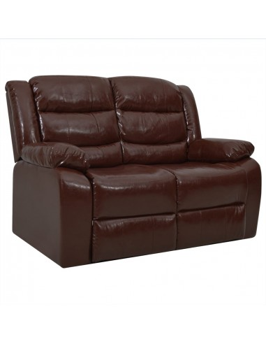 Dvivietė atlošiama sofa, rudos spalvos, dirbtinė oda   Foteliai, reglaineriai ir išlankstomi krėslai   duodu.lt