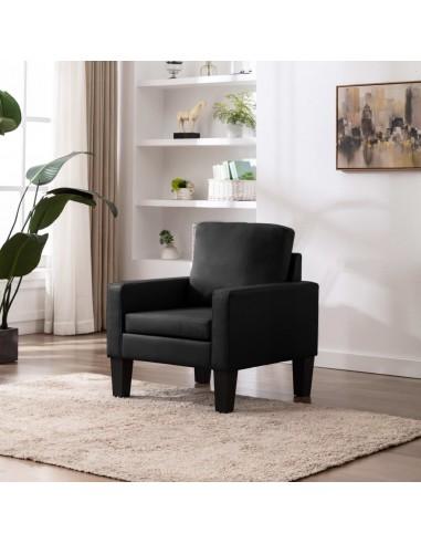 Krėslas, juodos spalvos, dirbtinė oda | Foteliai, reglaineriai ir išlankstomi krėslai | duodu.lt