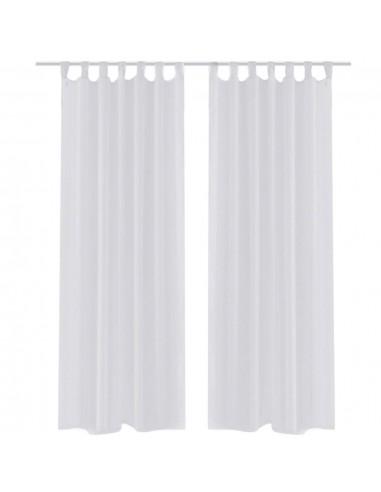 Permatomos Baltos Spalvos Užuolaidos, 140 x 175 cm, 2 Vnt. | Dieninės ir Naktinės Užuolaidos | duodu.lt