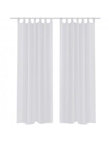 Permatomos Baltos Spalvos Užuolaidos, 140 x 225 cm, 2 Vnt.   Dieninės ir Naktinės Užuolaidos   duodu.lt