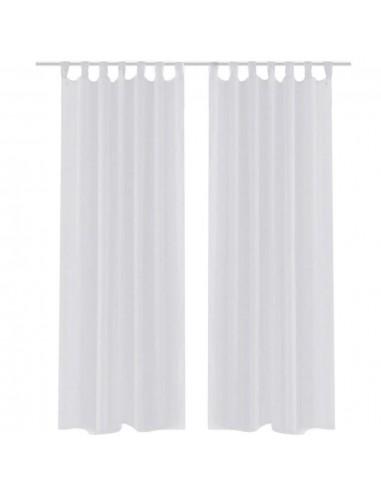 Permatomos Baltos Spalvos Užuolaidos, 140 x 245 cm, 2 Vnt.   Dieninės ir Naktinės Užuolaidos   duodu.lt
