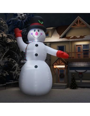 Pripučiamas kalėdinis sniego senis su LED, 600cm, IP44, XXL | Šventiniai papuošimai | duodu.lt