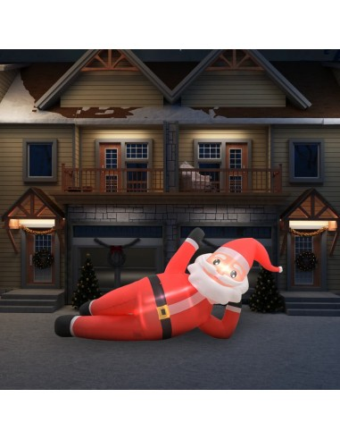Pripučiamas Kalėdų Senelis, raudonas, LED, IP44, 360cm, XXL   Šventiniai papuošimai   duodu.lt