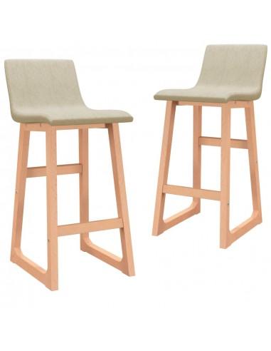 Baro taburetės, 2vnt., kreminės spalvos, audinys | Stalai ir Baro Kėdės | duodu.lt