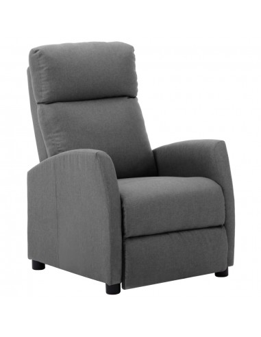 Atlošiamas krėslas, šviesiai pilkos spalvos, audinys | Foteliai, reglaineriai ir išlankstomi krėslai | duodu.lt