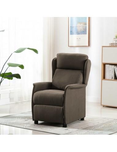 Atlošiamas krėslas, taupe spalvos, audinys | Foteliai, reglaineriai ir išlankstomi krėslai | duodu.lt
