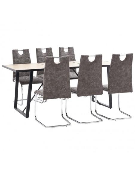 Neaustinių tapetų rulonai, 4vnt., kreminai, 0,53x10m, plytų dizainas | Tapetai | duodu.lt