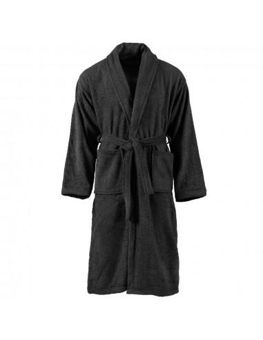Kilpinis chalatas, juodos spalvos, 100% medvilnė, XL, unisex | Chalatai | duodu.lt