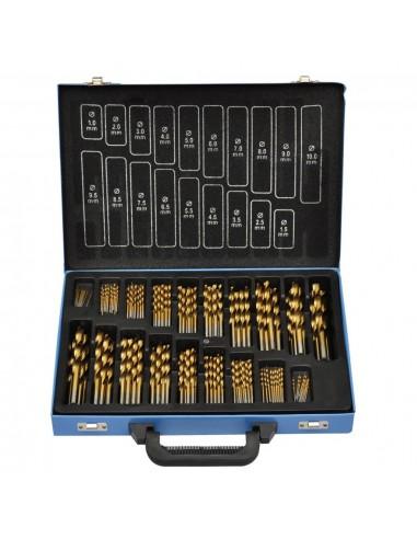 170 Dalių Titano Grąžtų Rinkinys Metalinėje Dėžėje, HSS TI | Gręžimo ir Sukimo Antgaliai | duodu.lt