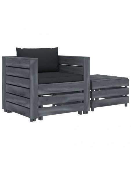Valgomojo kėdės, 2vnt., pilkos spalvos, dirbtinė versta oda | Virtuvės ir Valgomojo Kėdės | duodu.lt