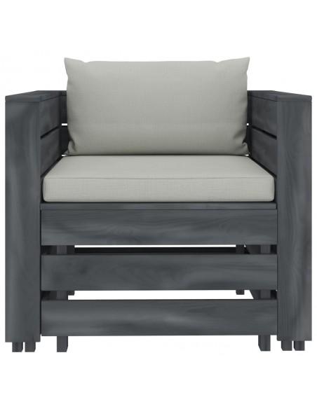 Atlošiamas krėslas su pakoja, juodos spalvos, dirbtinė oda | Foteliai, reglaineriai ir išlankstomi krėslai | duodu.lt