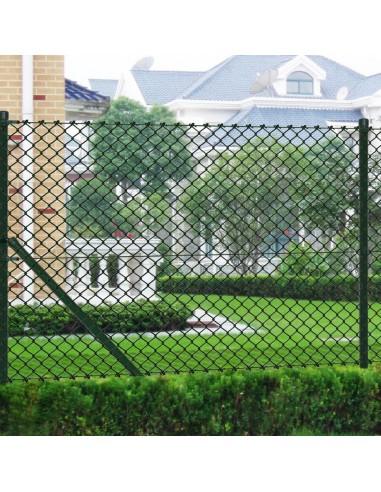 Žalias Tvoros Tinklas, su Stulpais ir Tvirtinimo Elementais, 0,8x25 m | Tvoros Segmentai | duodu.lt