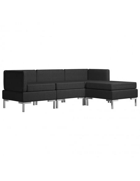 Kėdės su dirbtinės odos sėdynėmis, 4vnt., juodos, plienas | Virtuvės ir Valgomojo Kėdės | duodu.lt