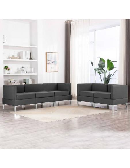 Valgomojo kėdės, 6 vnt., pilkos, ąžuolo medienos masyvas | Virtuvės ir Valgomojo Kėdės | duodu.lt