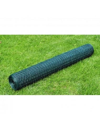 Vielinis Tinklas, Šešiakampės Akys, 1 m x 25 m, Dengtas PVC, 0,8 mm | Tvoros Segmentai | duodu.lt