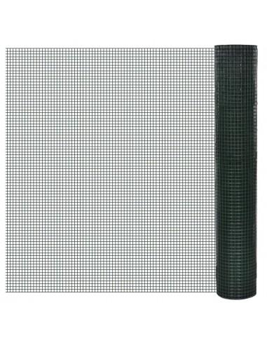 Vielinis Tinklas 1m x 10m, Dengtas PVC, Galvanizuotas, Akys 19 x 19 mm   Tvoros Segmentai   duodu.lt