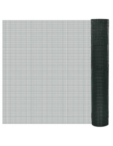 Vielinis Tinklas 1m x 25m, Dengtas PVC, Galvanizuotas, Akys 16 x 16 mm   Tvoros Segmentai   duodu.lt