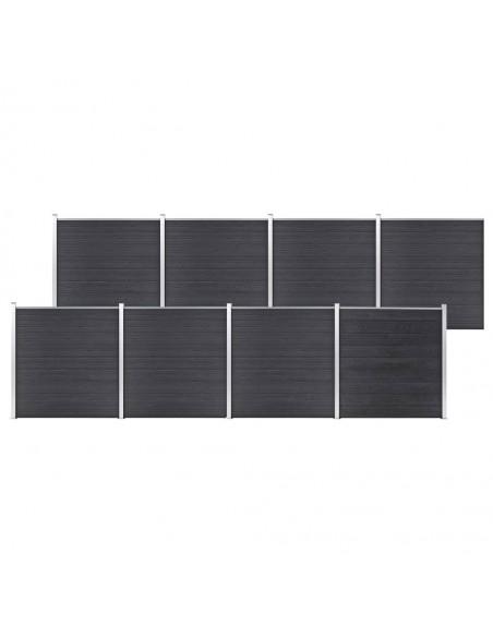 Sodo vartai su arkiniu viršumi, juodi, 2,5x5m, plienas | Vartai | duodu.lt