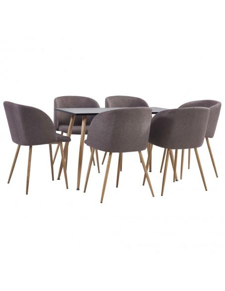 Valgomojo kėdės, 6vnt., pilkos, audinys (249162+249163)    Virtuvės ir Valgomojo Kėdės   duodu.lt