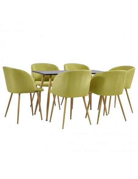 Valgomojo kėdės, 6vnt., geltonos, audinys (249174+249175) | Virtuvės ir Valgomojo Kėdės | duodu.lt