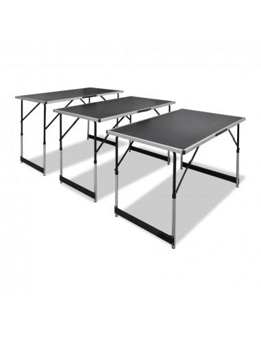 Sudedami stalai, 3 vnt., reguliuojamas aukštis, sulankstomi   Sulankstomi Staliukai   duodu.lt