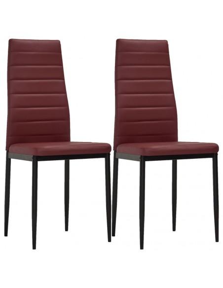 Gembinės valgomojo kėdės, 6vnt., rudos, dirbtinė oda | Virtuvės ir Valgomojo Kėdės | duodu.lt