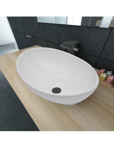 Keramikinis Praustuvas, Ovalo Formos Kriauklė, Baltas, 40 x 33 cm | Vonios praustuvai | duodu.lt