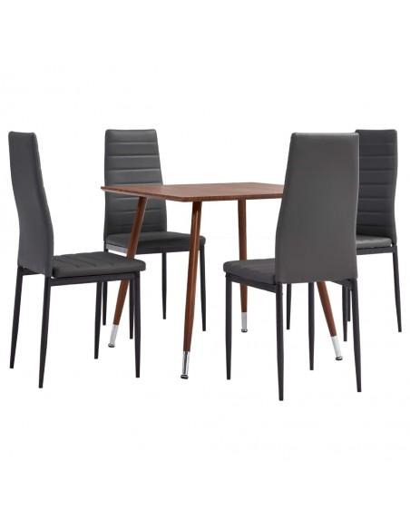 Valgomojo kėdės, 6 vnt., raud. sp., dirbtinė oda, zigz. formos | Virtuvės ir Valgomojo Kėdės | duodu.lt