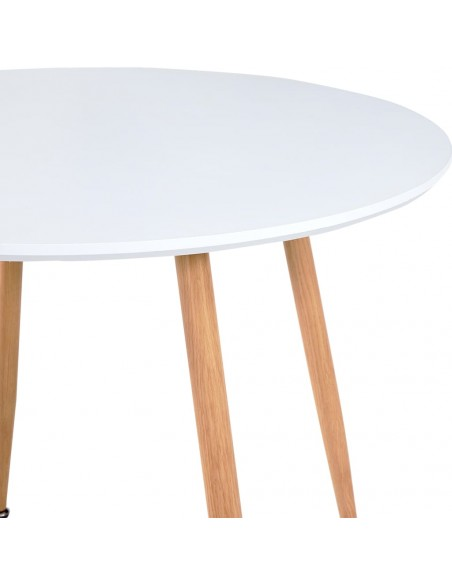 Staltiesės baro stal., 4vnt., krem. sp., 80cm skersm., įtemp. | Baldų Užvalkalai | duodu.lt