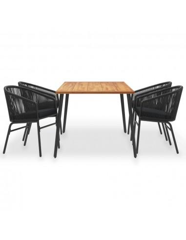 Valgomojo kėdės, 6 vnt., juodos spalvos, dirbtinė oda | Virtuvės ir Valgomojo Kėdės | duodu.lt