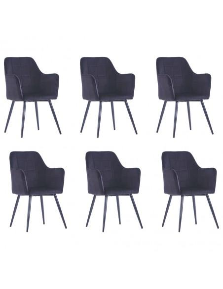 Valgomojo kėdės, 6 vnt., pilkos spalvos, aksomas (3x282569) | Virtuvės ir Valgomojo Kėdės | duodu.lt