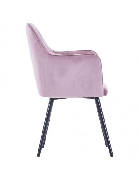 Valgomojo kėdės, 6 vnt., juodos spalvos, aksomas (3x282570) | Virtuvės ir Valgomojo Kėdės | duodu.lt