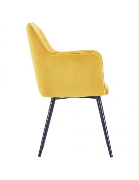 Valgomojo kėdės, 6 vnt., raudonos spalvos, aksomas (3x282573)   Virtuvės ir Valgomojo Kėdės   duodu.lt