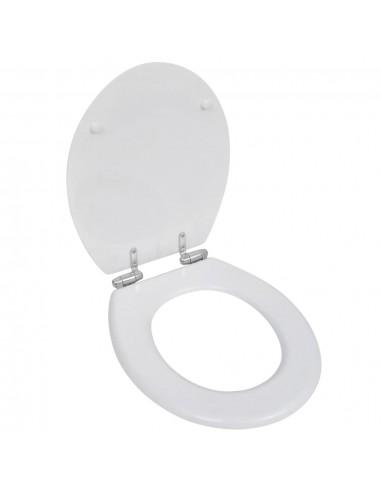 WC, Tualeto, Klozeto Sėdynė, MDF Dangtis, Soft Close, Paprasta, Balta   Klozetų ir Bidė Sėdynės   duodu.lt