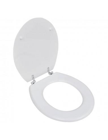 WC, Tualeto, Klozeto Sėdynė, MDF Dangtis, Paprasto Dizaino, Balta   Klozetų ir Bidė Sėdynės   duodu.lt