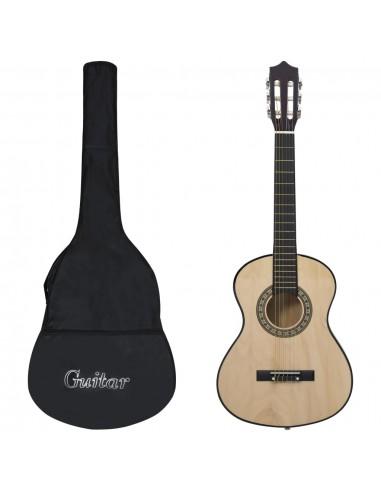 """Klasikinė gitara su dėklu pradedantiesiems ir vaikams, 1/2 34\\""""   Gitaros   duodu.lt"""