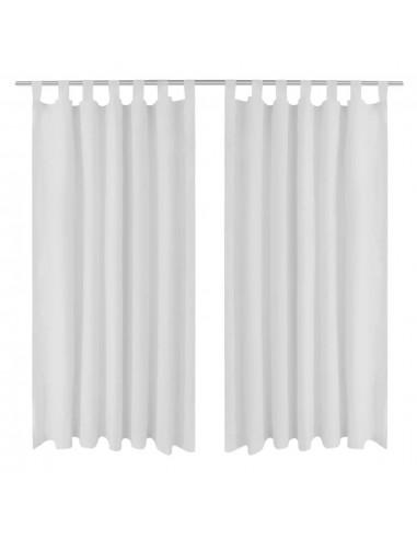 Baltos Užuolaidos su Kilpomis 140 x 245 cm, 2 vnt., Mikro Satinas | Dieninės ir Naktinės Užuolaidos | duodu.lt