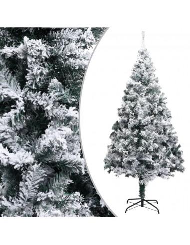 Dirbtinė Kalėdų eglutė su sniegu, žalios spalvos, 180cm, PVC | Šventiniai papuošimai | duodu.lt