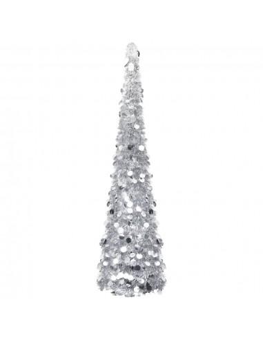 Dirbtinė Kalėdų eglutė, sidabrinės spalvos, 150cm, PET   Šventiniai papuošimai   duodu.lt
