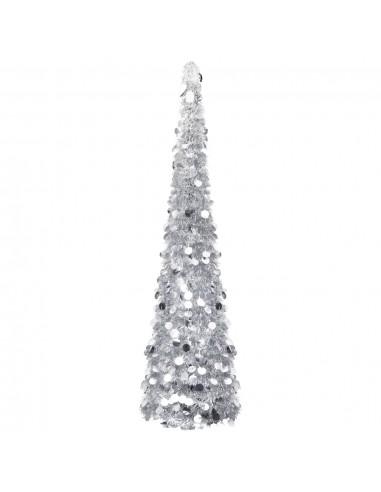 Dirbtinė Kalėdų eglutė, sidabrinės spalvos, 180cm, PET | Šventiniai papuošimai | duodu.lt
