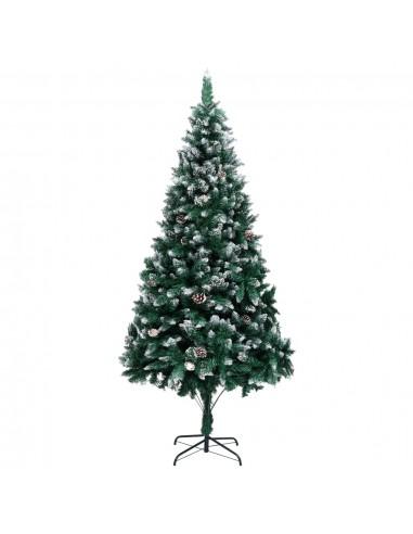 Dirbtinė Kalėdų eglutė su kankorėžiais ir baltu sniegu, 240cm   Šventiniai papuošimai   duodu.lt