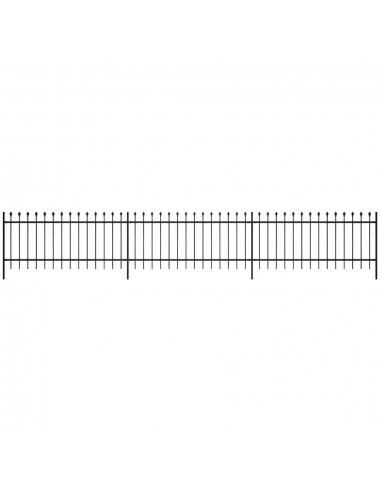 Dekoratyvinė Plieninių Virbų Tvora, Smailia Viršūne, Juoda, 60 cm   Tvoros Segmentai   duodu.lt